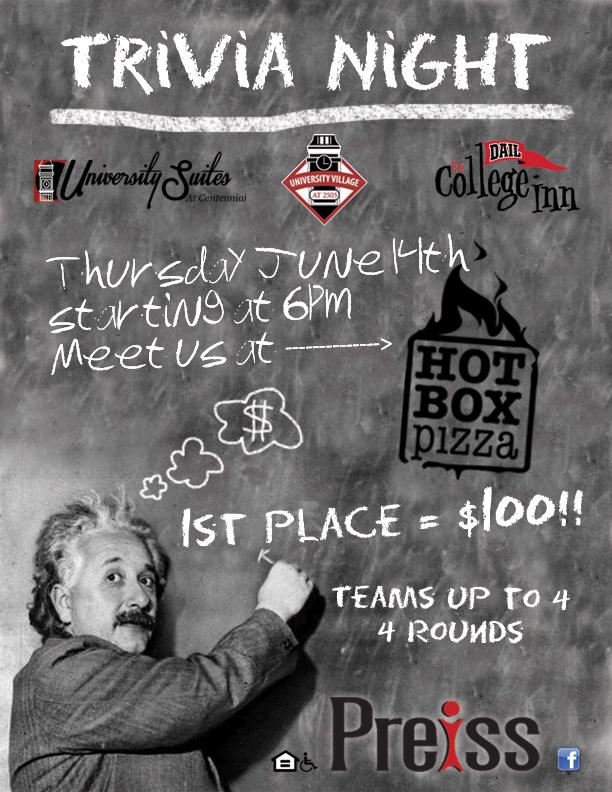 Trivia Night Flyer The Preiss Company