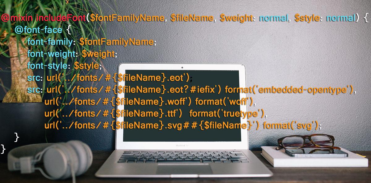 Cross Browser font-face Mixin